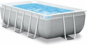 Intex Prism Frame zwembad 300 x 175 x 80 cm - met filterpomp en zwembadtrap