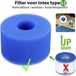 Intex S1 Filter Cartridge - Wasbaar & Herbruikbaar - Zwembad onderhoud - Intex Spa