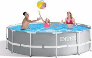 Intex zwembad Prism Frame Zwembadset 366x99 cm met trap en filterpomp