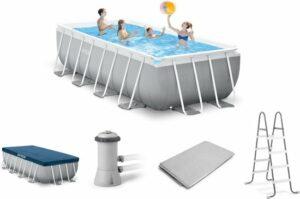 Intex zwembad - voordeelpakket - Rechthoekig - Prism Frame Pool - 488 x 244 x 107 cm