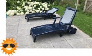 Ligbed - Ligstoel - Loungebed - Luxe - Verstelbare Rugleuning - Opvouwbaar - Tuin - Zwembad - Balkon - Terras