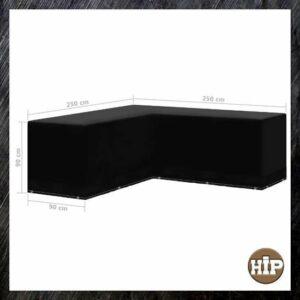 Loungeset hoes - 250 x 250 - Beschermhoes L Vorm - Tuinmeubelhoes