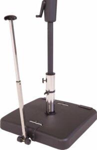Madison parasolvoet 50 kg - antraciet - beste parasolvoet op wielen