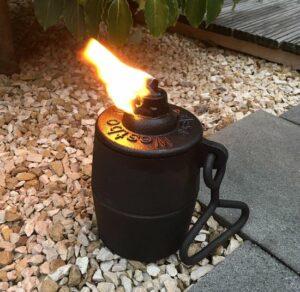 Olielamp gietijzer - lamp - gietijzer - zwart - sfeerverlichting - tuinverlichting