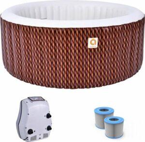 Opblaasbaar jacuzzi - Avenli Nice Spa - Bubbelbad voor 4 personen - Inclusief grond - afdekzeil + extra filter