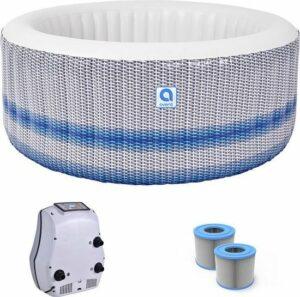 Opblaasbare jacuzzi - Avenli Venice Spa - Bubbelbad voor 4 personen - Inclusief grond - afdekzeil + extra filter