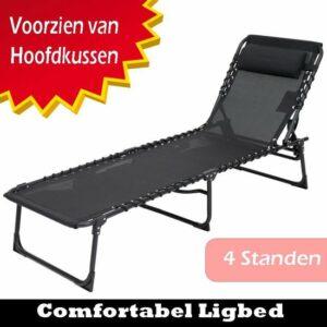 Opvouwbaar Ligbed - Ligstoel - Relaxstoel - Weersbestendig