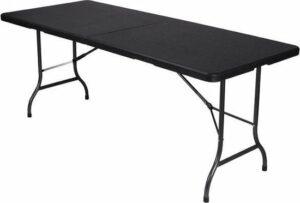 Perel Vouwtafel camping - picknick - 180x75x74 cm - Zwart