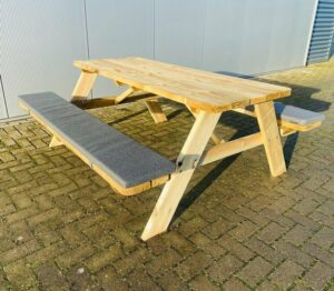 Picknicktafel Met Zitkussens Op Maat - Geïmpregneerd