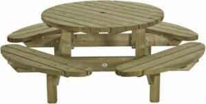 Snuggly Nordbury Rond 210 - ronde picknicktafel