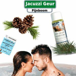 Spa Geur Aroma Pijnboom (dennen) voor Jacuzzi Fles 250ml + Djust A Ding Serviceboek - Jacuzzi producten - Jacuzzi Geuren - Sauna geuren - Aromatherapie