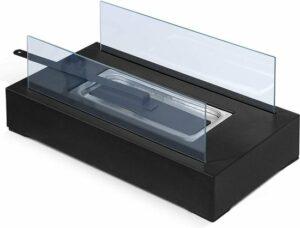 Trend24 - Tafelhaard - Openhaard - Glazen haard - Tafeldecoratie - Roestvrij staal - Voor binnen en buiten