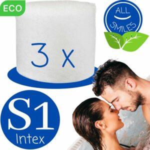 Type S1 - 3 stuks - Jacuzzi Filter Herbruikbaar Spa Onderhoud Bubbelbad - Geschikt als Intex Filter S1 voor Intex Pure Spa - All Smiles Polysphere