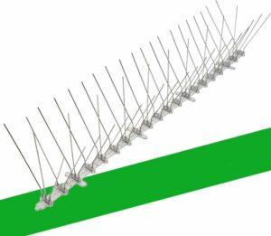 VerminBuster® Duivenpinnen 1 meter - Vogelpinnen - Duivenverjager - Vogelverschrikker - Vogelwering - Duivenwering - Kattenverjager - Anti klim strip