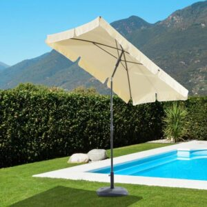Zonnescherm - Parasol - Balkon Parasol - Rechthoek - Knikbaar - 200 x 125 cm - Creme