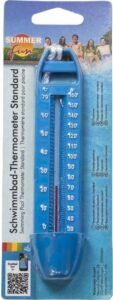 Zwembad drijvende thermometer blauw easy model