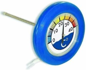 Zwembad - vijver - drijvende thermometer groot blauw