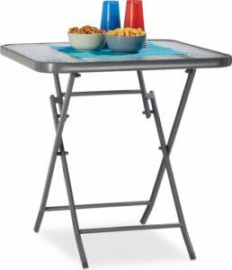 kleine tuintafel relaxdays - balkontafel STRUK - bistrotafel - 70cm