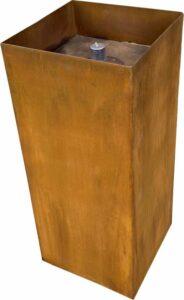 olielamp voor buiten - cortenstaal hoog 60cm