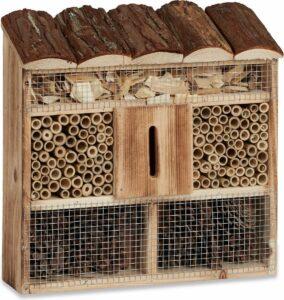 relaxdays insectenhotel om op te hangen, insectenhuis, overwinteren, nestelen
