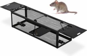 relaxdays muizenval diervriendelijk - rattenval - vangkooi - levend vangen - 2 ingangen