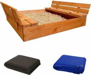 Afsluitbare zandbak met banken -Geïmpregneerd grenenhout