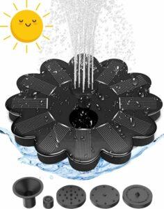 PEACHY Fontein - 16cm - op zonne-energie - 5 kopstukken
