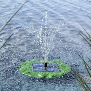 Solar vijverpomp, drijvende waterfontein waterlelie op zonne-energie