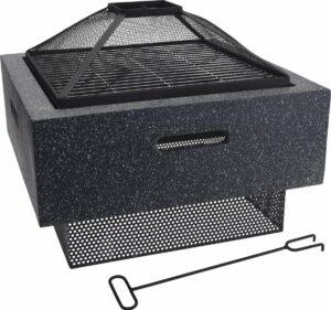 4Goodz 2-in-1 Vierkante Vuurschaal en BBQ
