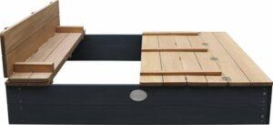 AXI Ella XL Zandbak met bankjes Antraciet - Bruin - FSC Hout - 120 x 120 x 20 cm