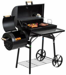 El Fuego Dakota - Barbecue - Smoker - Zwart - Grilloppervlak 66 x 41 cm - Afmeting 132,5 x 66 x 122 cm
