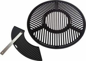Gietijzeren grill combinatie set voor 57 CM Kogel BBQ o.a. geschikt voor Weber 57cm