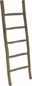 Houten decoratie ladder - Rustiek bruin - 50x5x150