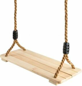 Schommel - houten schommel - instelbare hoogte - buitenspeelgoed