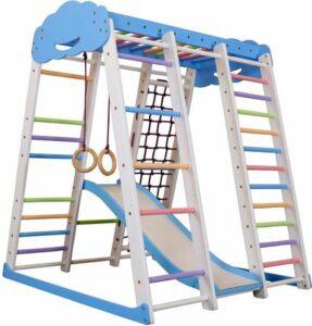 Speelhoek Dino 150-2, Klimrek met glijbaan voor kinderen, Speeltoestel