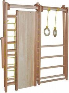 Speelhoek Inklapbare 130 cm, Speeltoestel, Klimtoestel met glijbaan