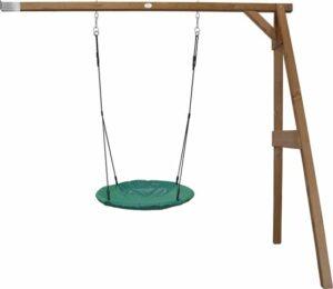Summer Nest Aanbouwschommel Bruin - FSC100% Hemlock hout - 1 nest schommel en 2 grondankers