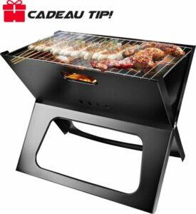 Uitklapbaar Houtskool Barbecue Basco® – Kleine Houtskool BBQ Grill Rooster