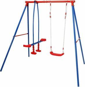 kinderschommel schommelframe tuinschommel kind wip , inclusief 2 schommelstations